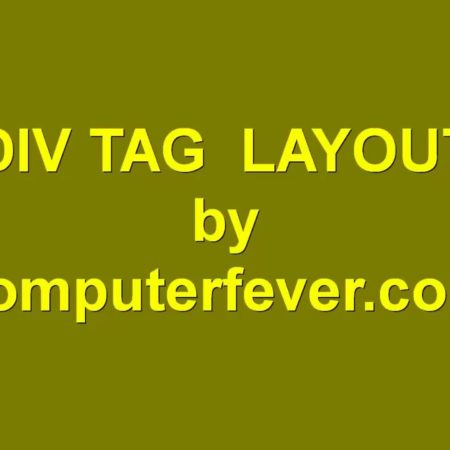 Basic HTML5.0&CSS3 Div Tag Layout