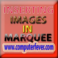 Inserting Images In Marquee Tag