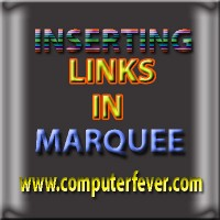 Inserting Links In Marquee Tag