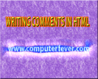 WRITING COMMENTS IN HTML